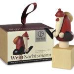 Weihnachtsmann Rotweinverschluß mit Dekowürfel